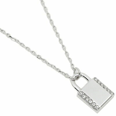 Kate Spade Pave Lock Silver Size 19 inches Necklace WBRUH584911