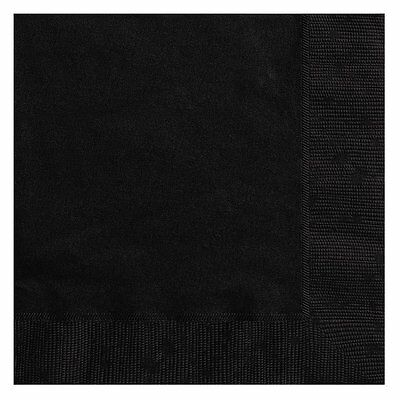 20 Halloween Party Ideas (Halloween Party Ideas - 6.5 Inch 20 Pack of Black Party Paper Napkins)