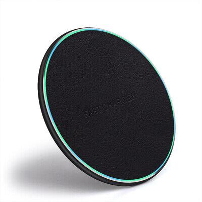 Schnell 10W Qi Wireless Charger Ladegerät Dock Pad Mat Für iPhone 8 X 8Plus XS Wireless Pad