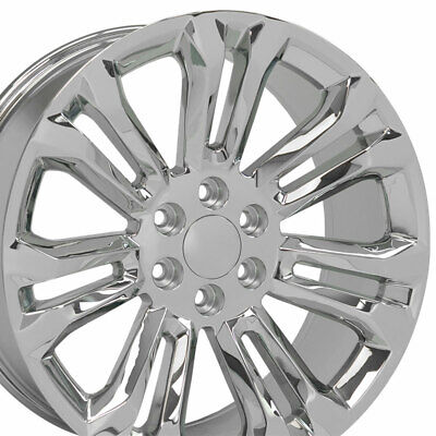"OEW Fits 22x9 Chrome Silverado Wheels 22"" Rims Chevy GMC Sierra"