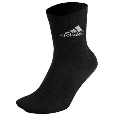 Adidas Stripes Cushioned Crew Socks Sport Business Running Tennis AA2301