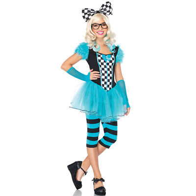 Nerdy Costume (Teen Girls Nerdy Alice Wonderland Costume sz S/M)