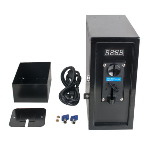 Coin Operated Timer Control Power Supply Box Electronic Device Acceptor Timer