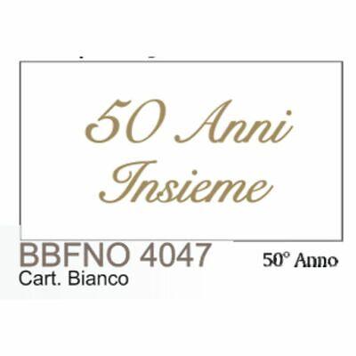 20Pz Notas Tarjeta Detalle Bodas de Oro D Oro 50 Años Insieme