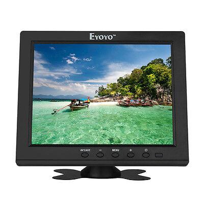 8 IPS MONITOR 800X600 TFT LCD BILDSCHIRM 178 GRAD VGA HDMI AV BNC LAUTSPRECHER