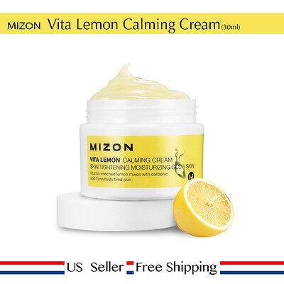 Mizon Vita Lemon Calming Cream 50ml Moisturizing + Free Sample [US (Calm Moisture)