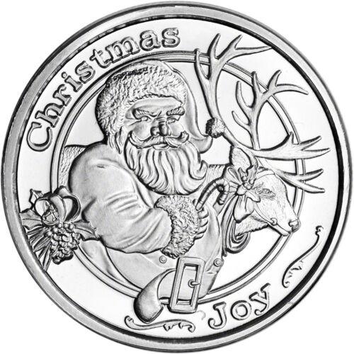 Купить 1 oz. Silver Round - SilverTowne - Santa Christmas Joy .999 Fine Silver