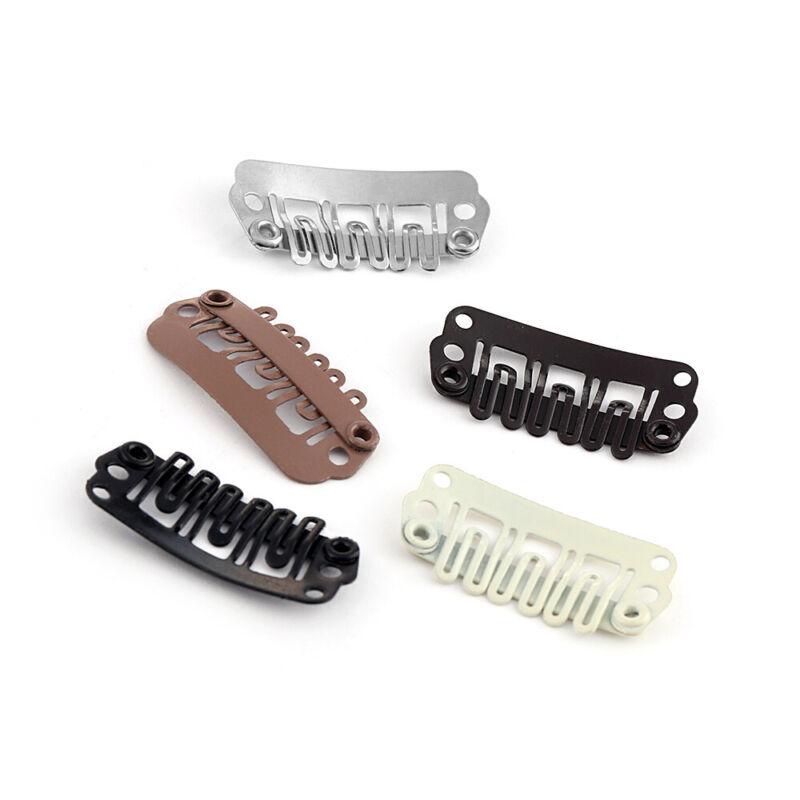 U Shape Snap Perruque Cheveux Clips Pour Cheveux Extension trame clip on Perruque 32 mm UK Vendeur