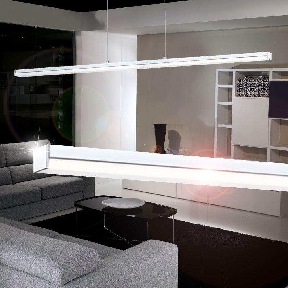 Design LED Wohnzimmer 3x5 Watt Pendel Lampe Hnge Leuchte Chrom Bro Kchen Neu