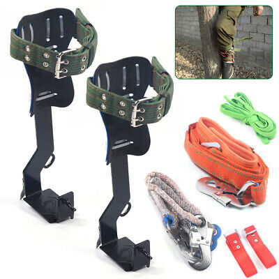 Tree Climbing Spike Kit Safety Belt Straps Safety Lanyard With Carabiner Rope