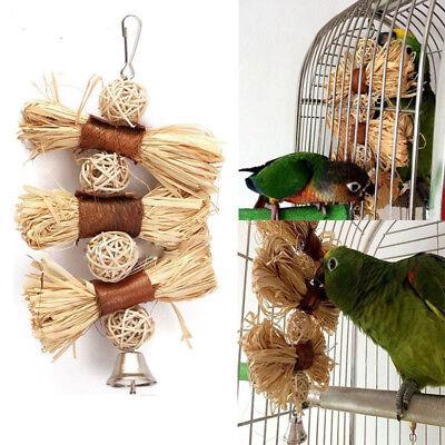 Pet Cockatiel Chewing Toy Parrot Bird Bites Swing Loofah Vine Balls Cage ToyNT5X
