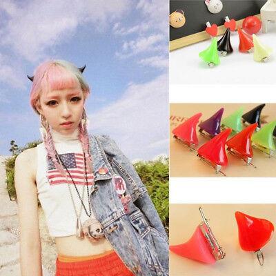 1 Pair Chic Halloween Stereo Devil Horns Ears Clip Hairpin Corner Hair Jewelrys (Devil Ears)