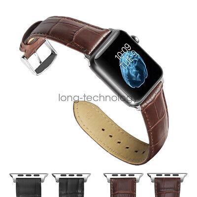 Crocodile Leather Wristwatch Strap for Apple Watch Band iWatch 44mm 38mm 42mm Crocodile Leather Band