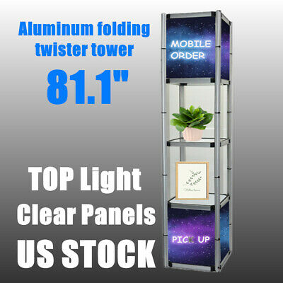 Usa 81.1 Square Portable Aluminum Spiral Tower Display Case For Store Display