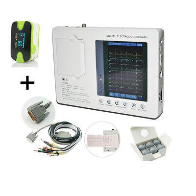 Portable Ecgekg Machine Digital 3 Channels 12 Lead Electrocardiographus Seller