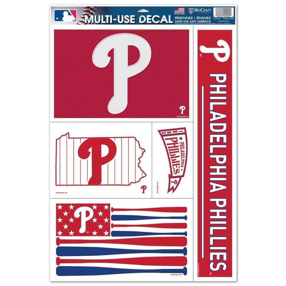 "PHILADELPHIA PHILLIES EST. 1883 U.S.A. FLAG ULTRA DECALS 11"""