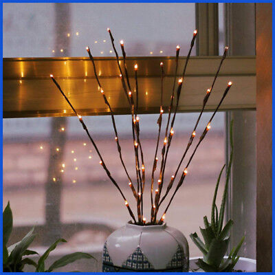 2 Pack Branch Decorative Lights Tall Vase Filler Willow Twig for Home Warm (Willow Twig)