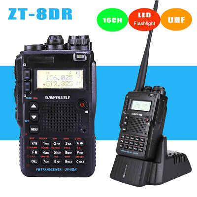ZT-8DR Handheld Walkie Talkie 16 Channels UHF Two Way Radio with LED Flashlight