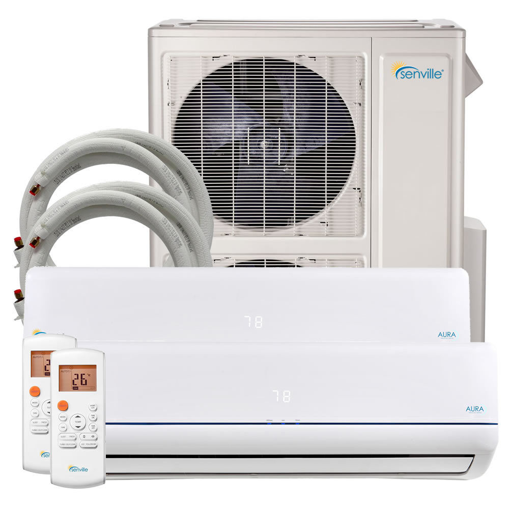 48000 BTU Dual Zone Ductless Mini Split Air Conditioner and