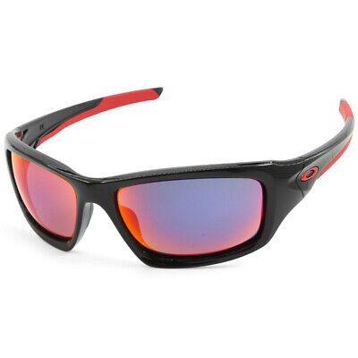 Oakley Valve OO9236-02 Polished Black/Red Iridium Men's Sports Sunglasses, used for sale  Shipping to Canada