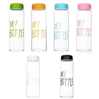 Clear Sport Bottle Sport Fruit Juice Water Cup Portable 500ML Travel Bottle ](Clear Plastic Water Bottles)