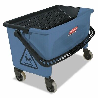 Rubbermaid Commercial Finish Mop Bucket With Wringer 28-quart Blue