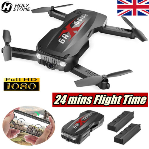 Holy Stone 1080P RC Drone With HD Camera Wifi 2.4G FPV Foldable Helicopter UK