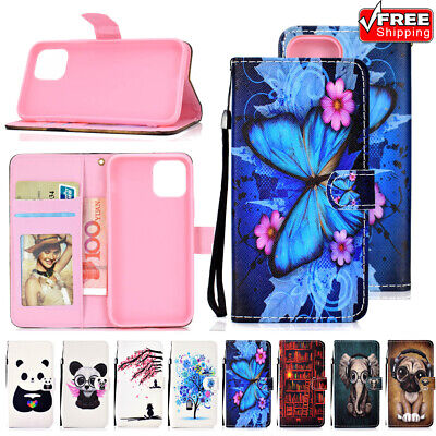 For iPhone 11 Pro Max X XR Xs 6s 7 8 Flip Leather Wallet Phone Book Case Cover
