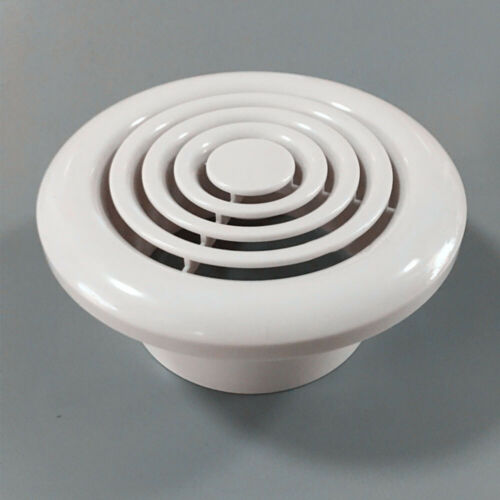"White Bathroom Extractor Fan 100mm 4/"" Air Vent Grille Kitchen Ventilator WC100"