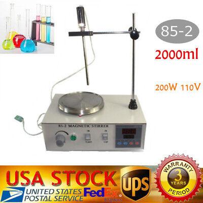 Magnetic Stirrer With Hotplate Digital Mixer Heating Plate Control 110v Fastship