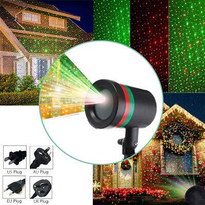 LED Laser Projektor Licht Xmas Gartenlicht Weihnachten Moving Laser Lamp Dekor (Weihnachten Garten Dekor)