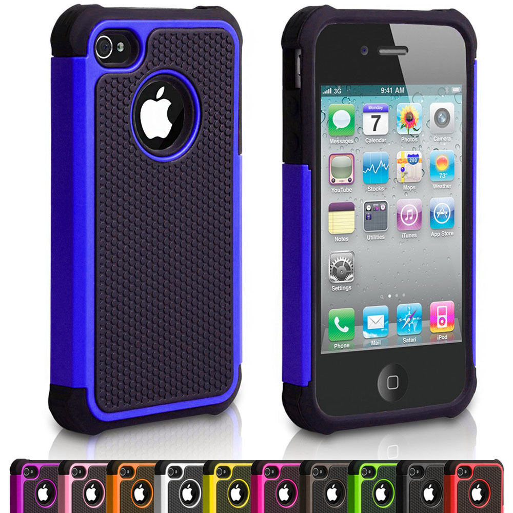 cases for iphone 4s silicone shock proof defender phone cover for 13753