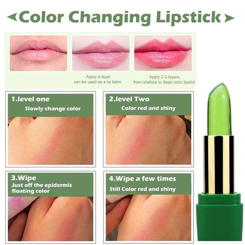 99% ALOE VERA Moistourizing Lip Natural Temperature Change Color Jelly Lipstick Health & Beauty