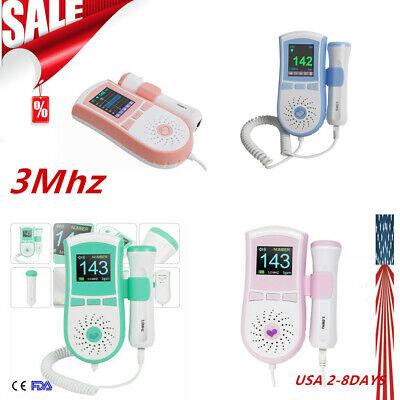 3mhz Pocket Fetal Doppler Baby Heart Monitor Vascular Doppler Lcdprobe Gel