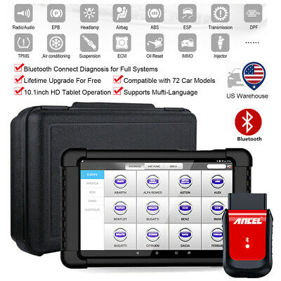 Ancel X6 OBD2 Diagnostic Scanner Automotive ABS Airbag EPB DPF Oil Reset Tablet