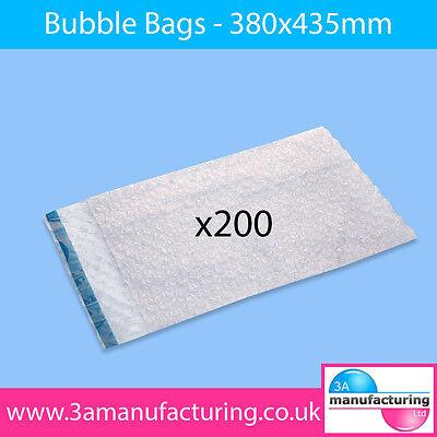 Bubble Wrap Bags 380x435mm (Pack Qty:1 x 200)