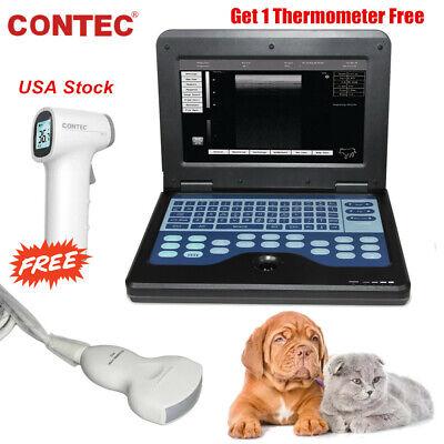 Portable Vet Machine Veterinary Ultrasound Scanner 3.5mhz Convex Probe Usa Fedex