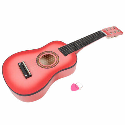 Kids 23 Inch Wooden Acoustic Guitar Girls Boys Gift Strings Pick Instrument USA