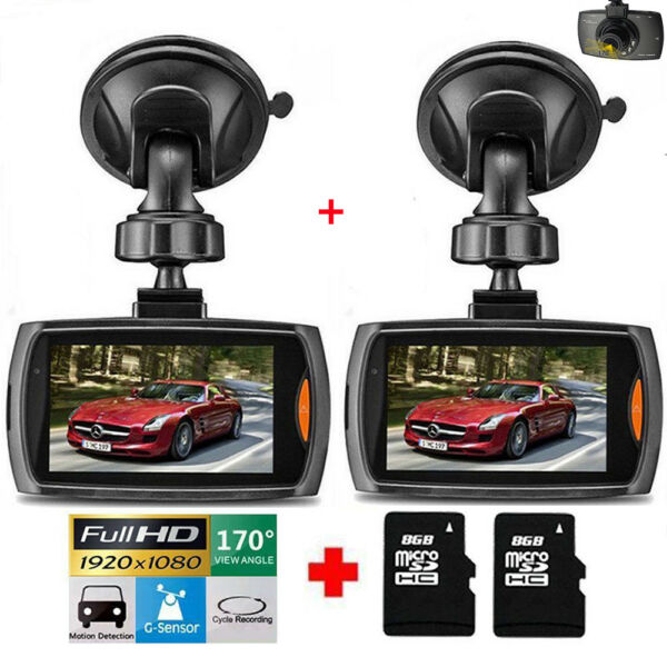 "2 Pack 2.4"" 1080P HD Car DVR Vehicle Camera Video Recorder Dash Cam Night Vision 1"