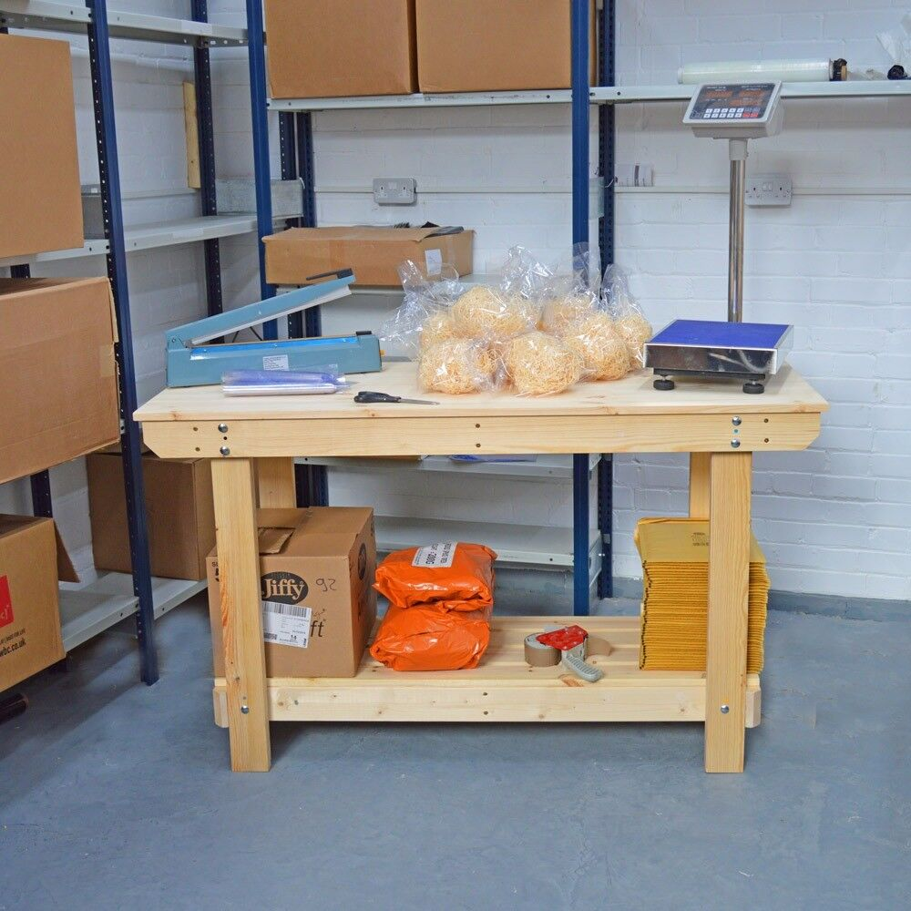 Wooden Workbench | Craft table | VERY Strong & Sturdy | Various sizes Available