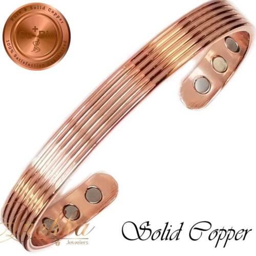 DESIGNER PURE SOLID COPPER 6 STRONG MAGNETIC BANGLE BRACELET ARTHRITIS CB47