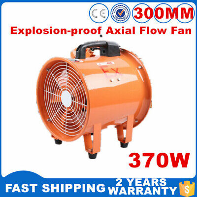 12 Inch Explosion-proof Axial Flow Fan Exhaust Fan 2650cfm 2800rpm 110v Cool Air
