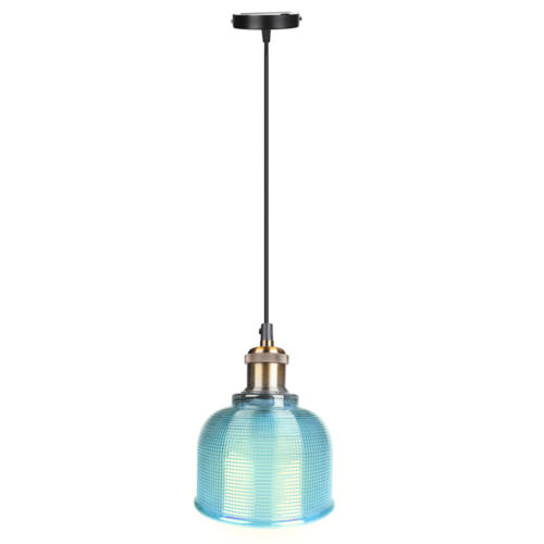 Industrial Glass Pendant Light Color Plating Ceiling Lamp Shade Hanging Fixtures 9