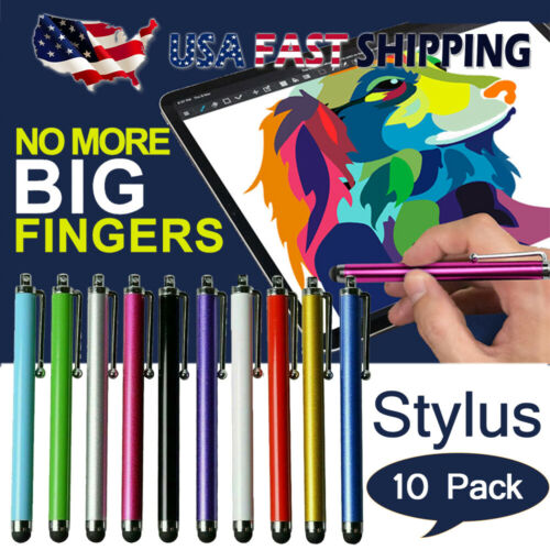 10X Metal Universal Stylus Pen Touch Screen For Tablet Mobil