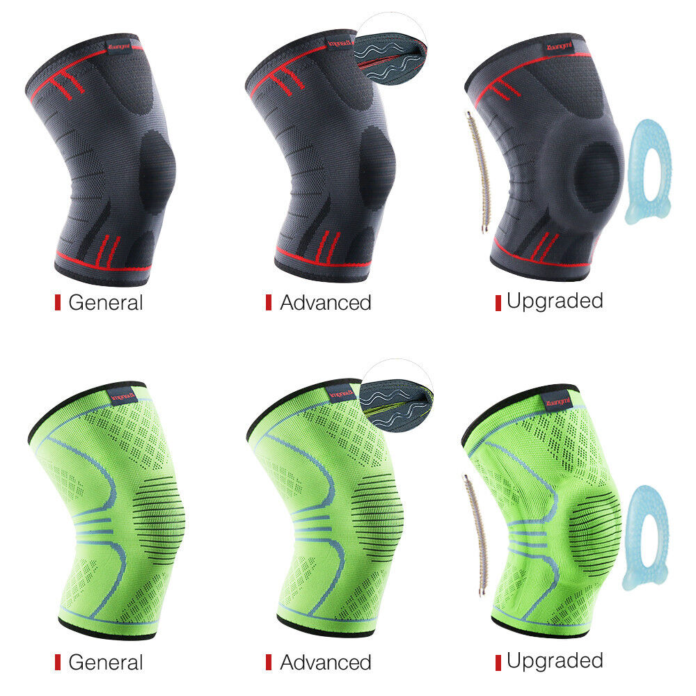 Kuangmi Knee Brace Compression Sleeve Sports Support Pad Running Joint Pain 1PC