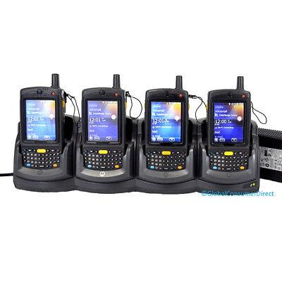 Lot Of 4x Motorola Mc75a0-py0swqqa9wr 1d Barcode Scanner Pda Wm6.5 Wifi Cradle