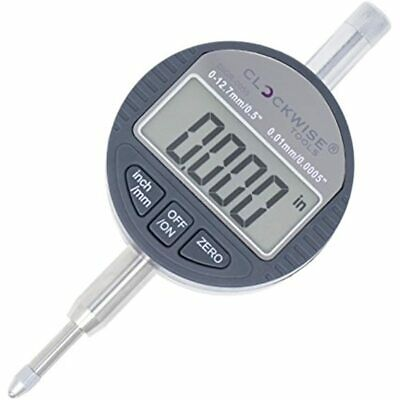 Clockwise Tools Digr-0055 Electronic Digital Dial Indicator Gage Gauge 0-0.5 Mm