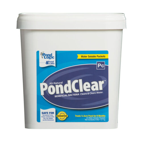 Pond Logic Pond Clear-Dry 6 lb/24 Pk-beneficial bacteria water soluble packets