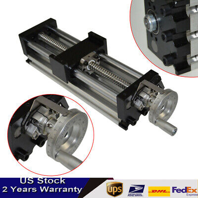 100mm Manual Sliding Table Sfu1605 Ballscrew Linear Stage Actuator