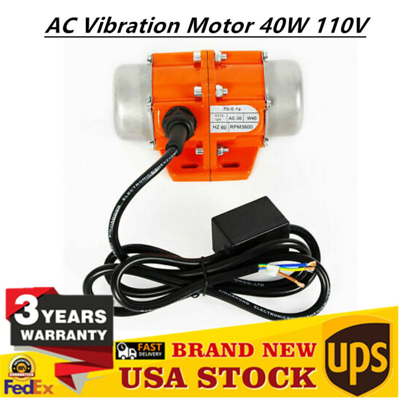 3600rpm Vibration Motor AC 110V 40W Industrial Asynchronous Vibrating Vibrator